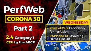 CORONA 30 Point of care laboratory for perfusion RAPP and UF: Avoiding hemodilution