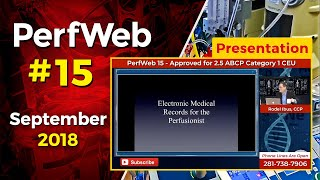 Electronic Charting - EHR Options for Perfusion - Patrick O'Toole, CCP